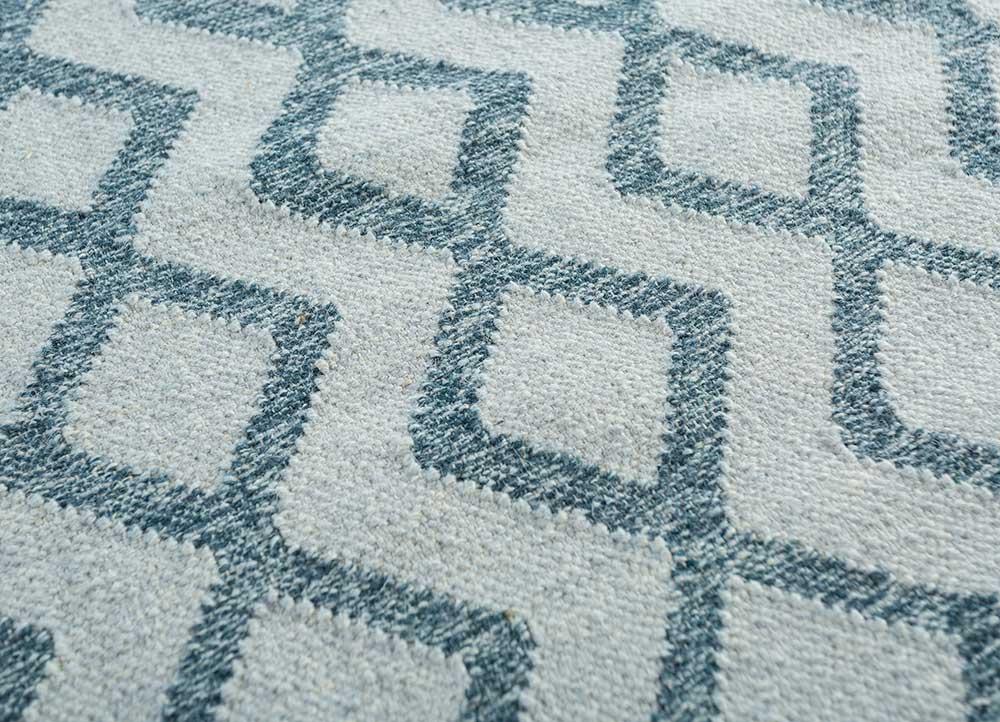 indusbar gold wool flat weaves Rug - CloseUp