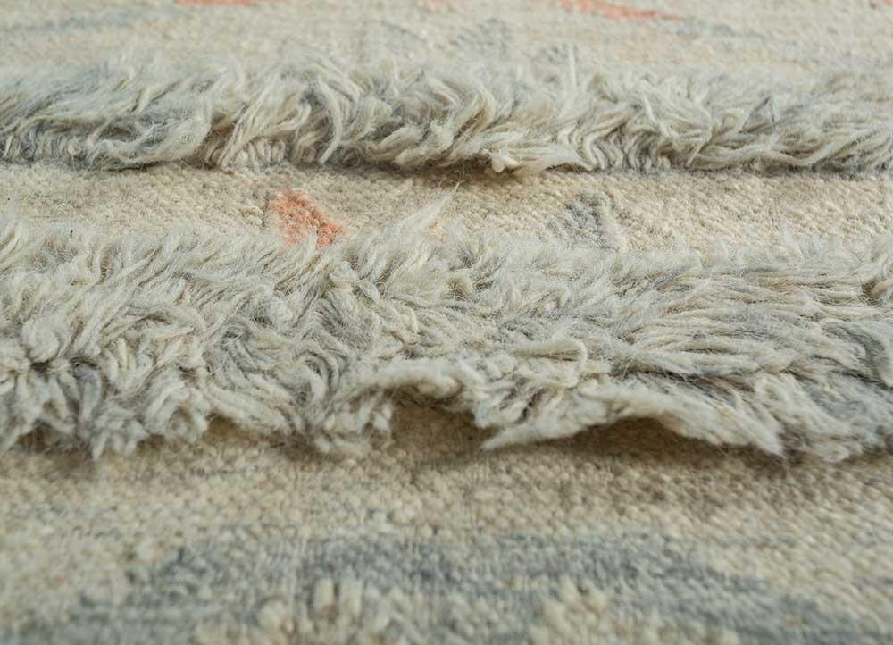 souk ivory wool flat weaves Rug - CloseUp