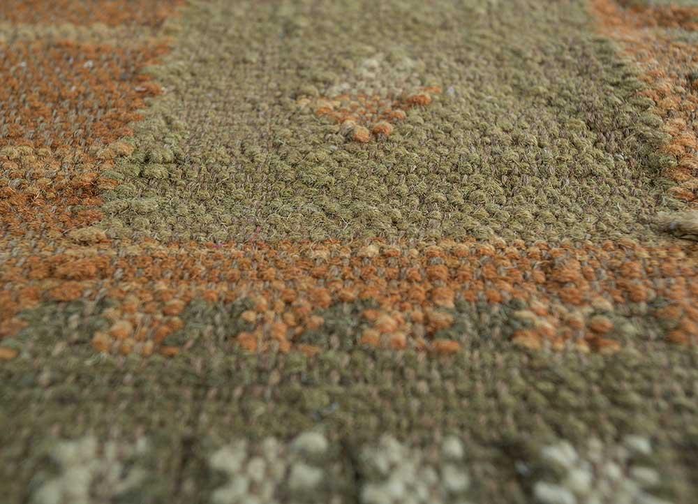 bedouin gold wool flat weaves Rug - CloseUp