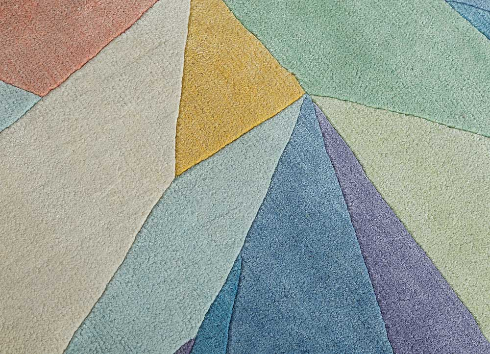 geode ivory others hand knotted Rug - CloseUp
