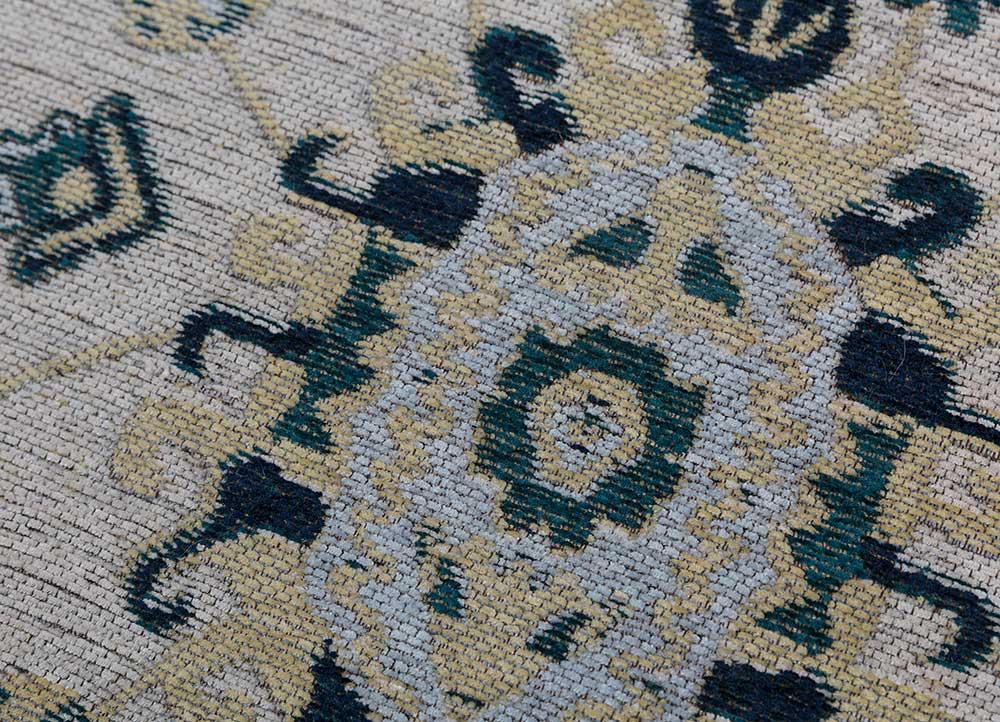 memoir green wool and viscose hand loom Rug - CloseUp