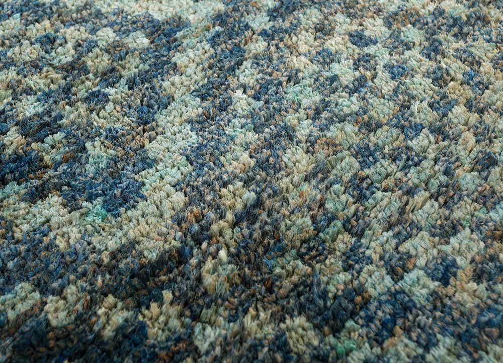 anatolia blue jute and hemp shag Rug - CloseUp