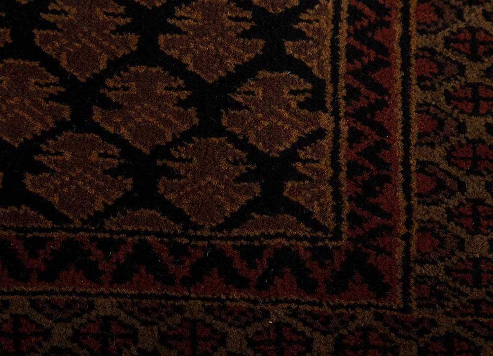 kiaan beige and brown wool hand knotted Rug - CloseUp