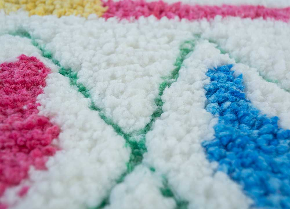confetti ivory others hand tufted Rug - CloseUp