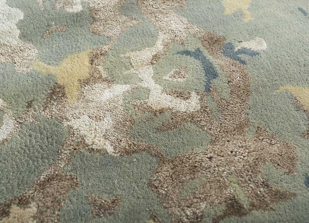 transcend blue wool and viscose hand tufted Rug - CloseUp