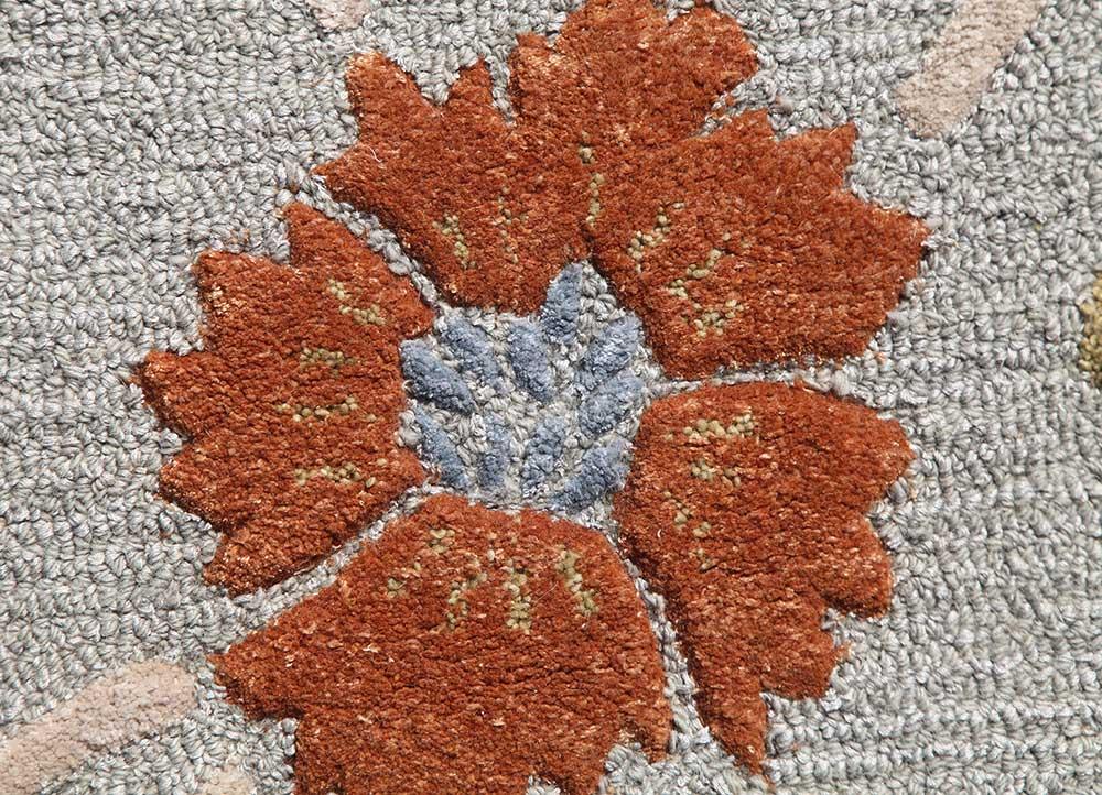hacienda blue wool and viscose hand tufted Rug - CloseUp