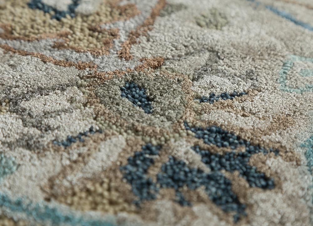 kilan ivory wool and viscose hand tufted Rug - CloseUp