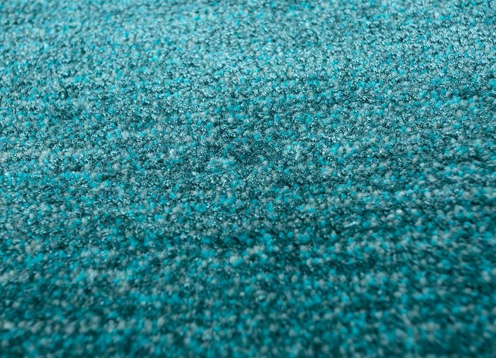 traverse blue wool and viscose hand tufted Rug - CloseUp