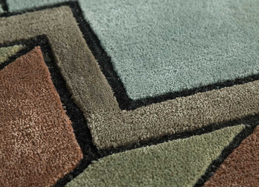 archetype ivory wool and viscose hand tufted Rug - CloseUp