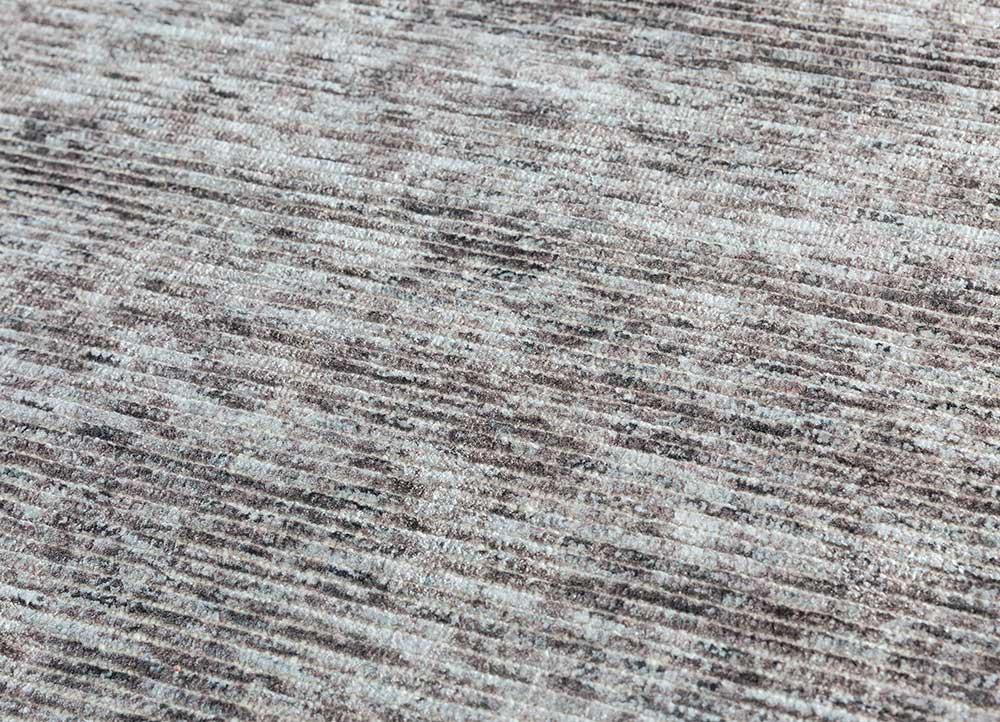 entropy blue wool and viscose hand loom Rug - CloseUp