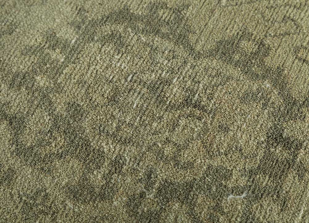 atlantis gold wool hand knotted Rug - CloseUp
