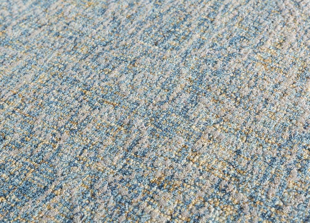 shudd blue wool hand tufted Rug - CloseUp