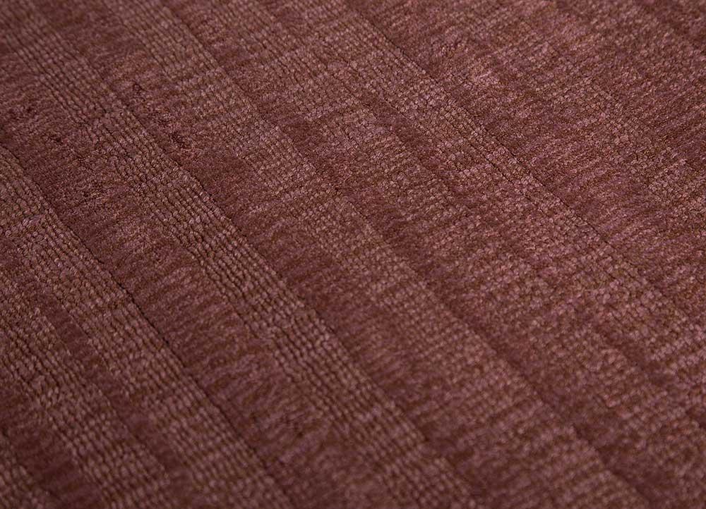 basis red and orange viscose hand loom Rug - CloseUp