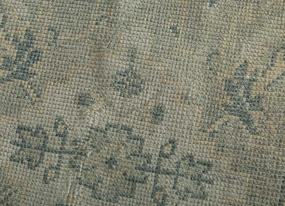 liberty blue polyester hand knotted Rug - CloseUp
