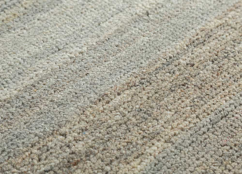 legion beige and brown wool hand knotted Rug - CloseUp