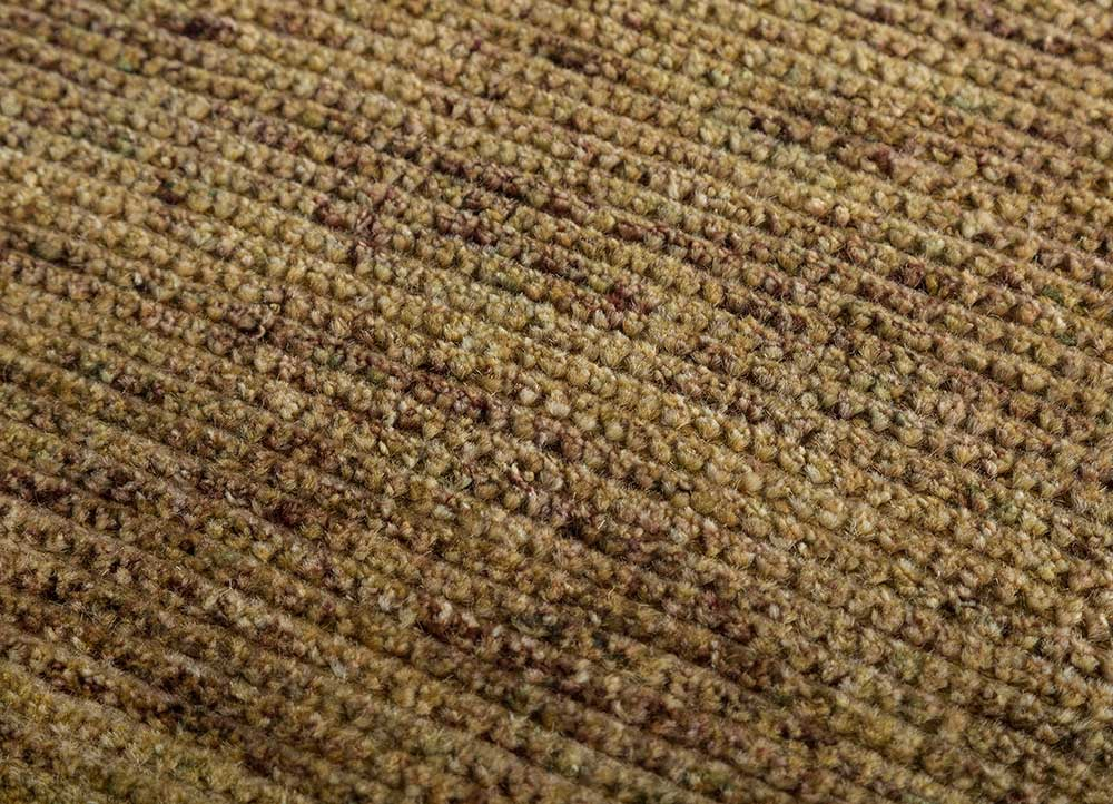 legion gold wool hand knotted Rug - CloseUp