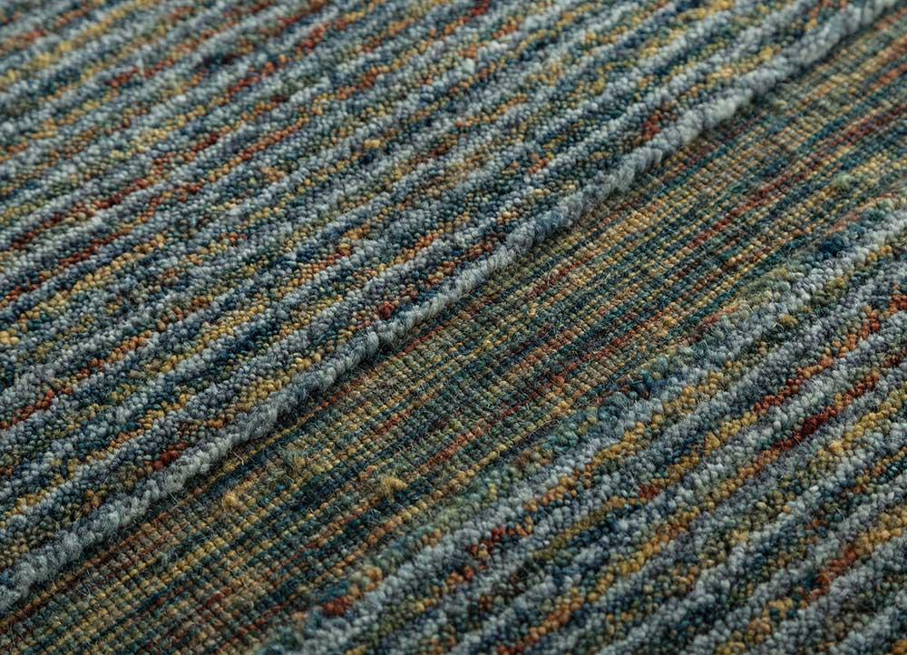 tesoro gold wool hand loom Rug - CloseUp