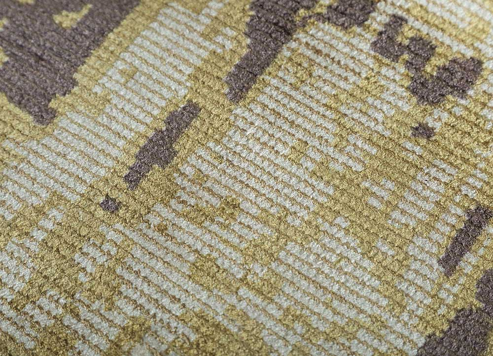 acar ivory wool hand loom Rug - CloseUp