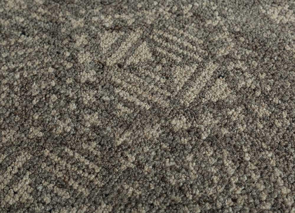 viscaya grey and black wool hand knotted Rug - CloseUp