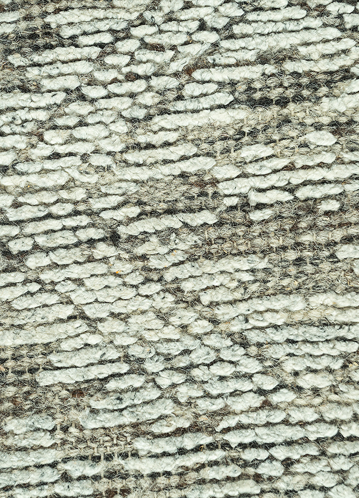 revolution blue wool and viscose hand knotted Rug - CloseUp
