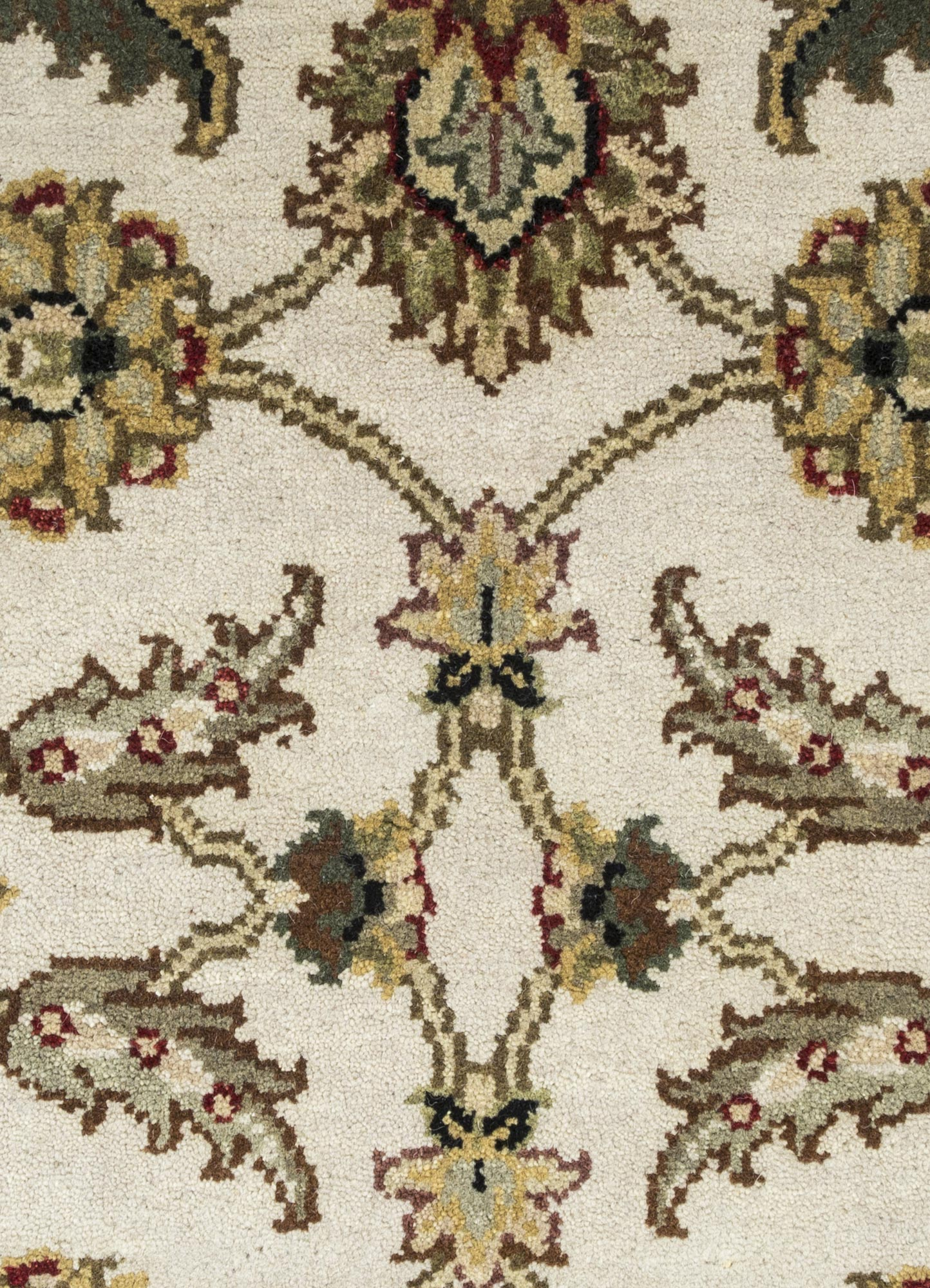 atlantis ivory wool hand knotted Rug - CloseUp
