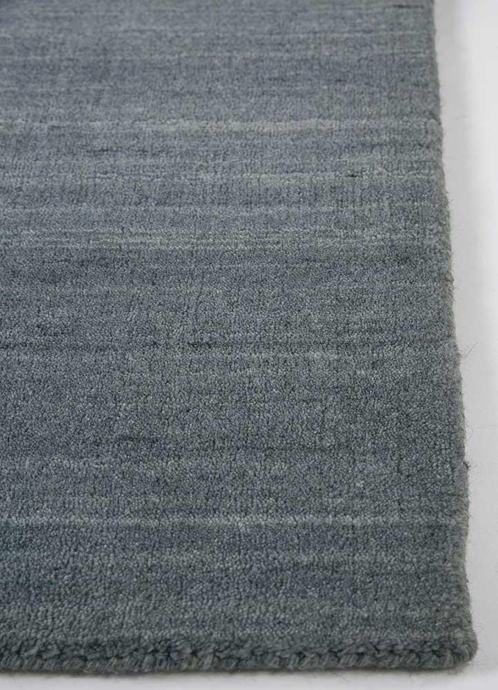 tesoro blue wool and viscose hand loom Rug - Corner
