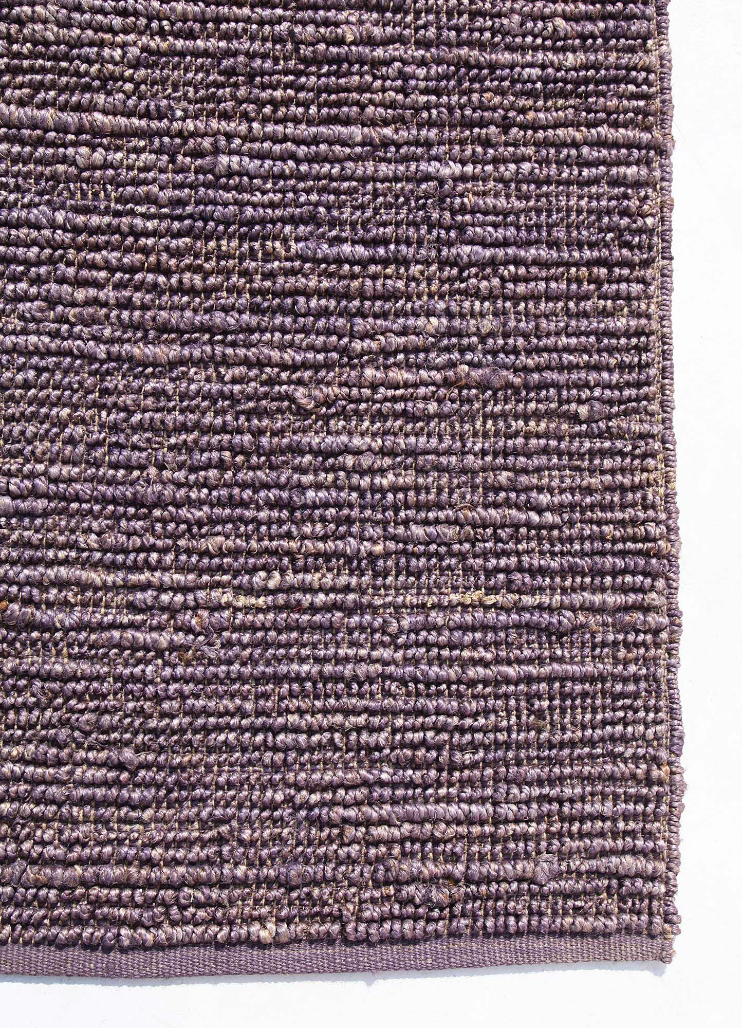 abrash pink and purple jute and hemp flat weaves Rug - Corner