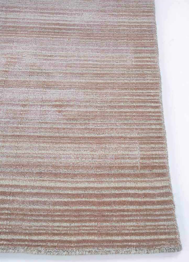 oxford pink and purple wool hand loom Rug - Corner