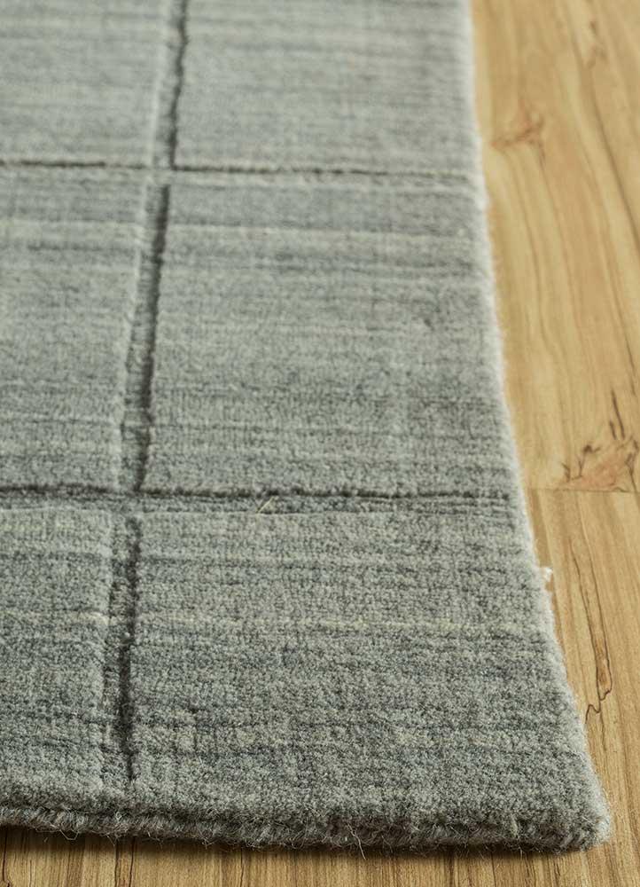 graze beige and brown wool hand loom Rug - Corner