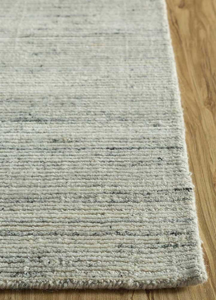 basis ivory wool hand loom Rug - Corner