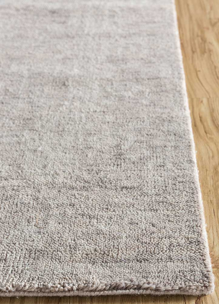 outdoor grey and black polyester hand knotted Rug - Corner