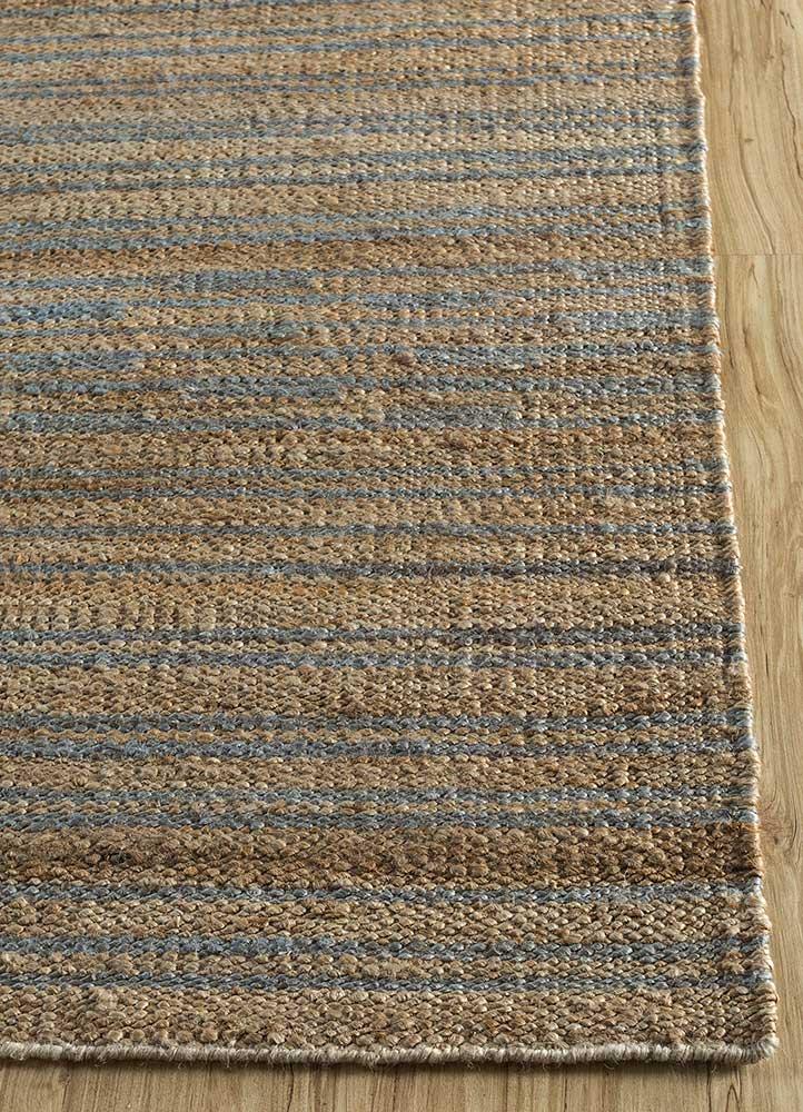 spatial red and orange jute and hemp jute rugs Rug - Corner