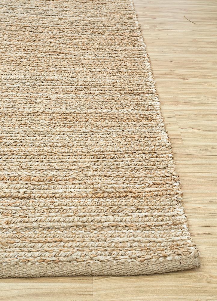 abrash ivory jute and hemp jute rugs Rug - Corner