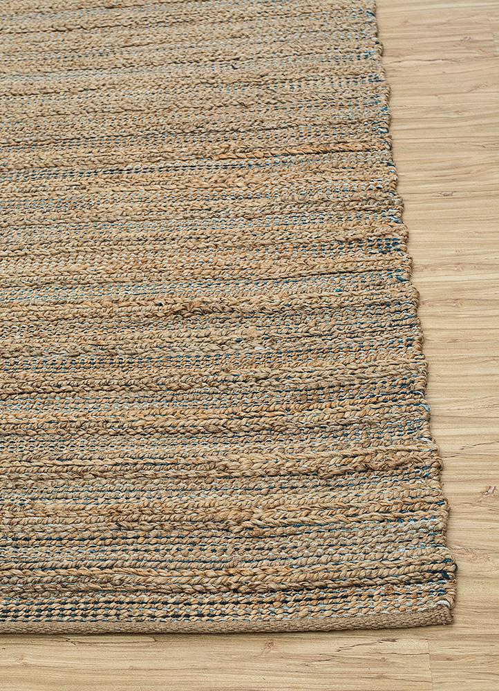 abrash blue jute and hemp jute rugs Rug - Corner