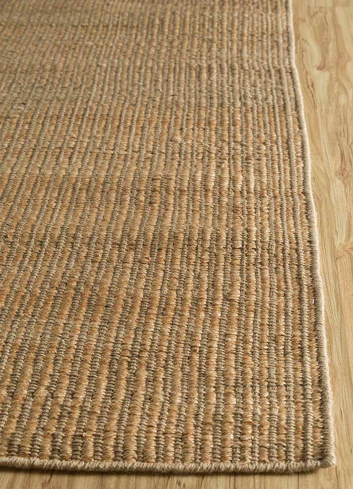 abrash beige and brown jute and hemp jute rugs Rug - Corner