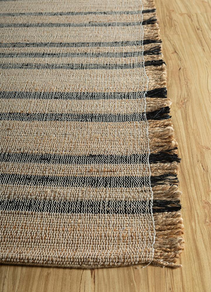 aqua beige and brown jute and hemp jute rugs Rug - Corner