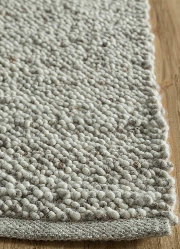 abrash ivory jute and hemp flat weaves Rug - Corner