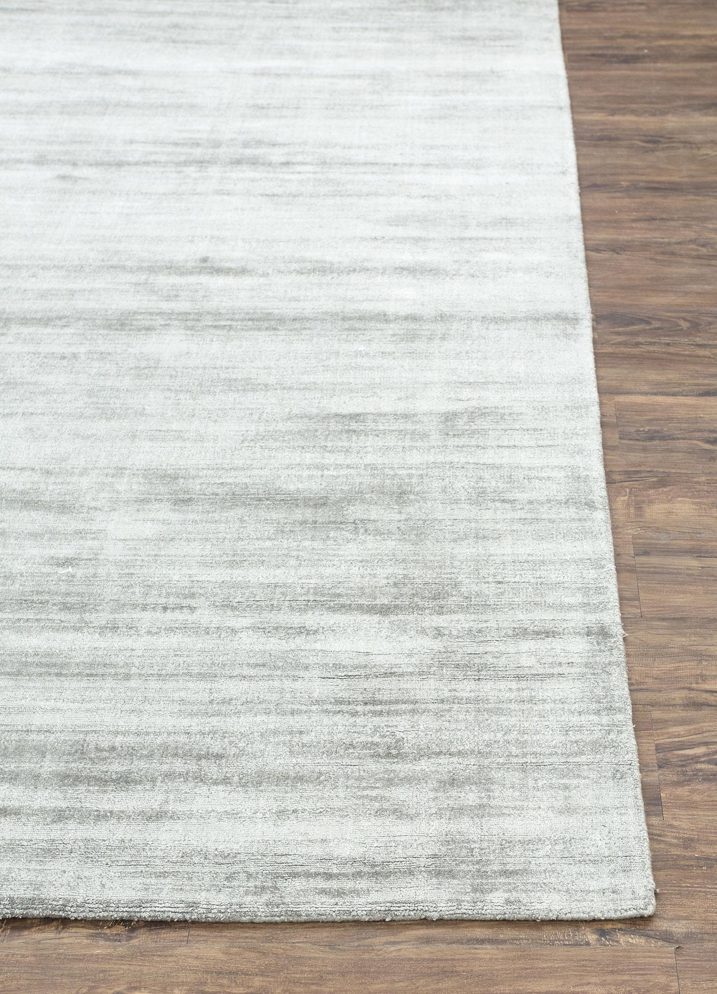 yasmin grey and black viscose hand loom Rug - Corner
