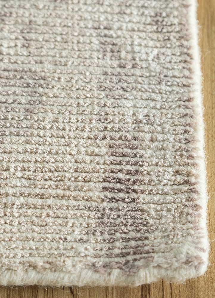 acar grey and black wool and viscose hand loom Rug - Corner