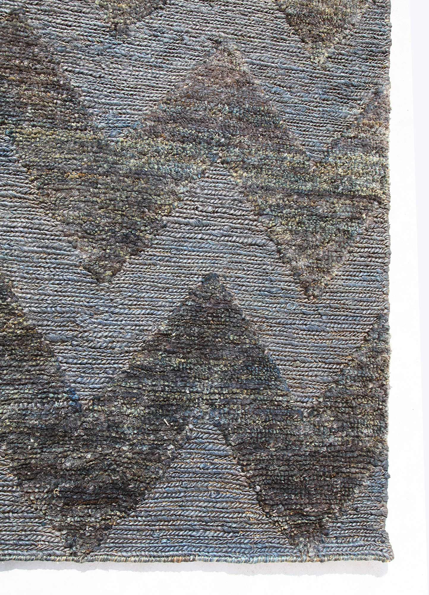anatolia blue jute and hemp jute rugs Rug - Corner