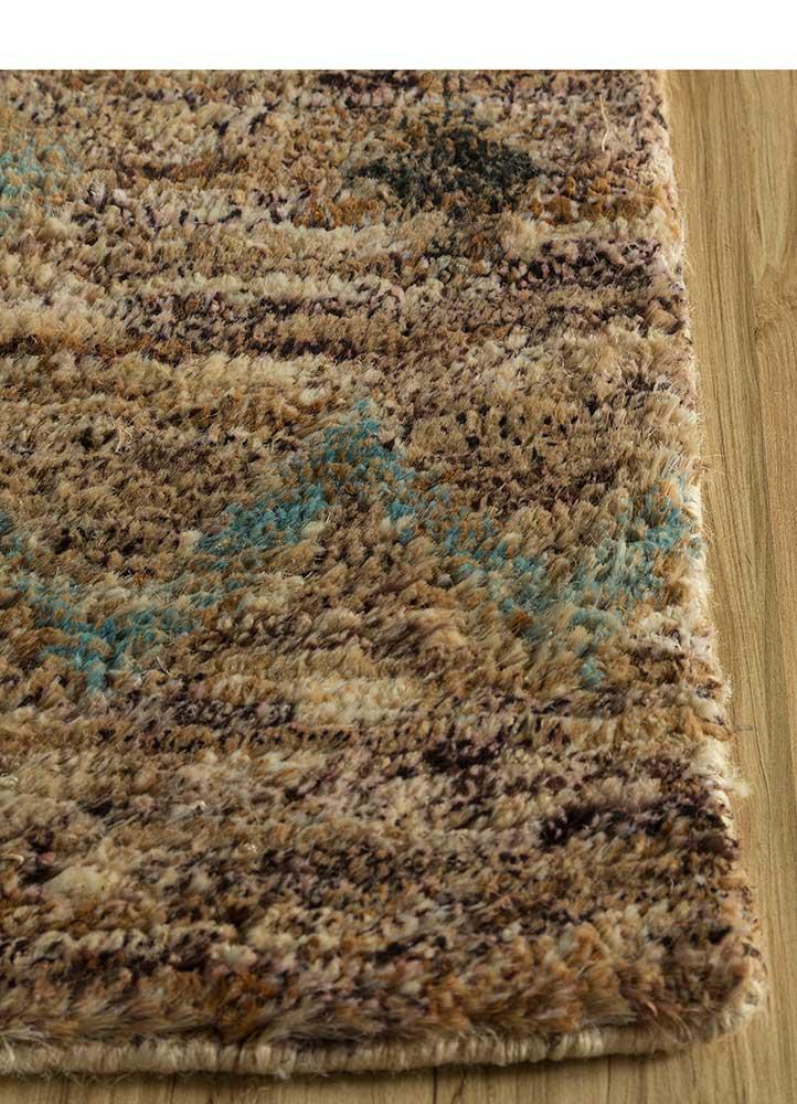 spatial beige and brown jute and hemp jute rugs Rug - Corner