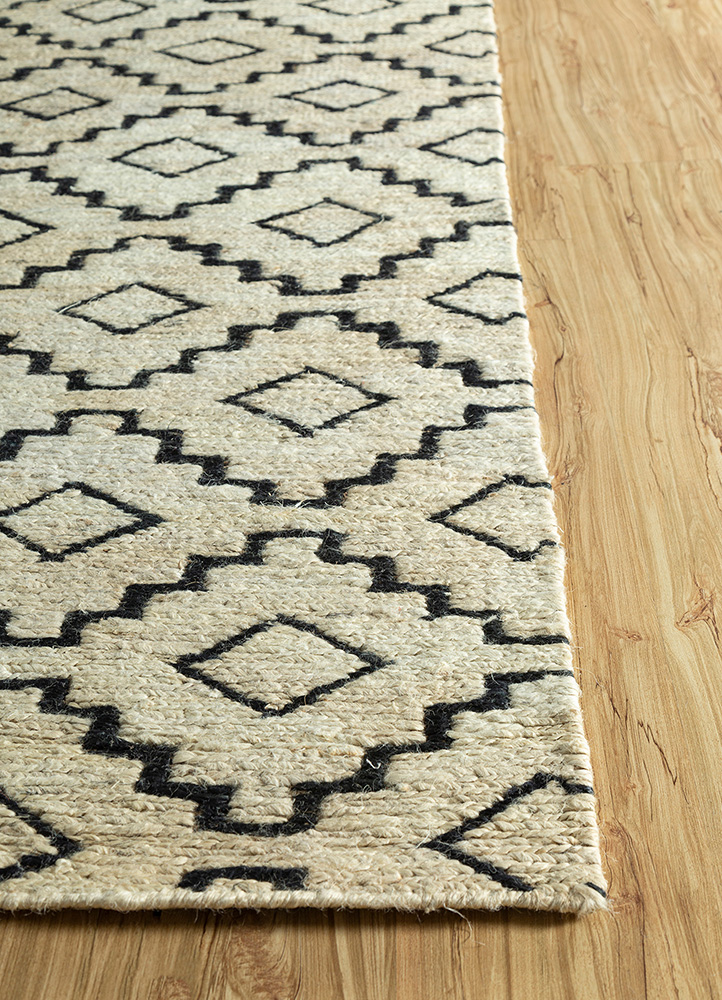 spatial ivory jute and hemp jute rugs Rug - Corner