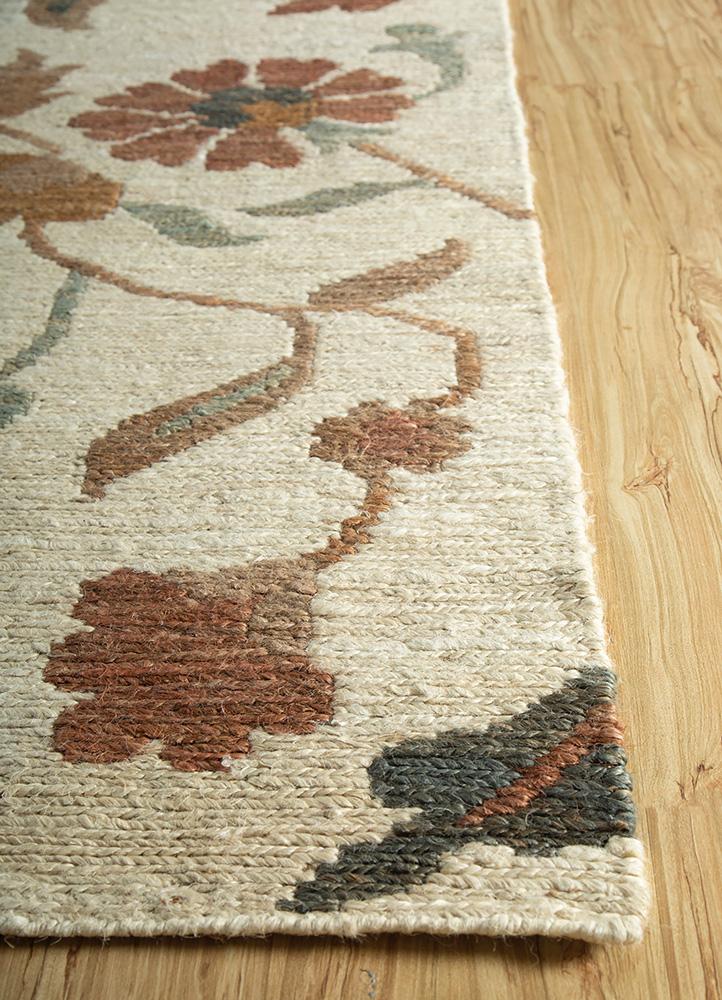 heritage ivory jute and hemp jute rugs Rug - Corner