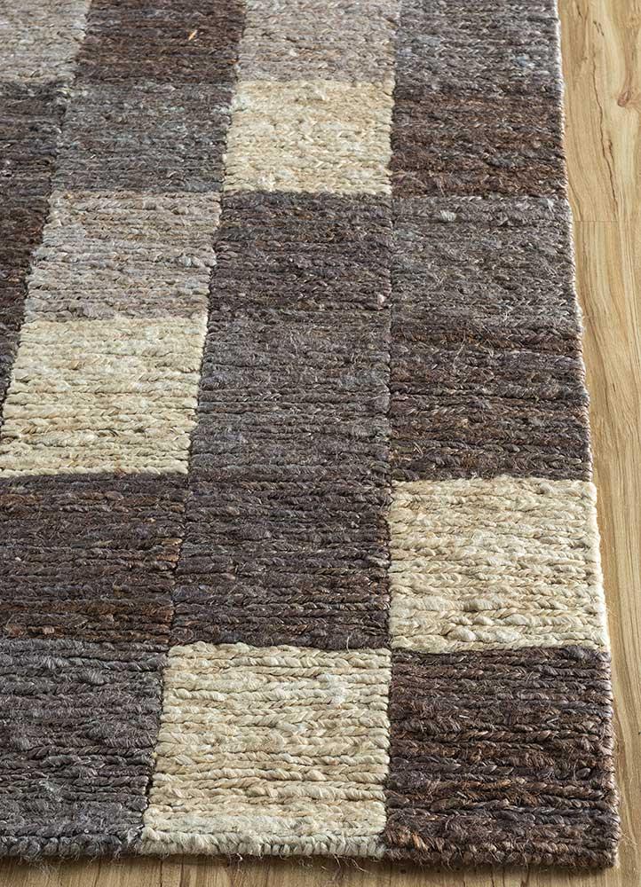 anatolia grey and black jute and hemp jute rugs Rug - Corner