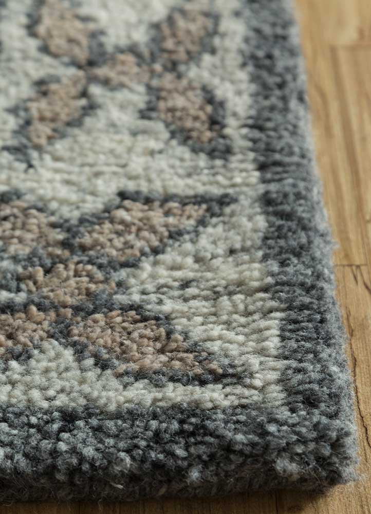 liberty ivory wool hand knotted Rug - Corner