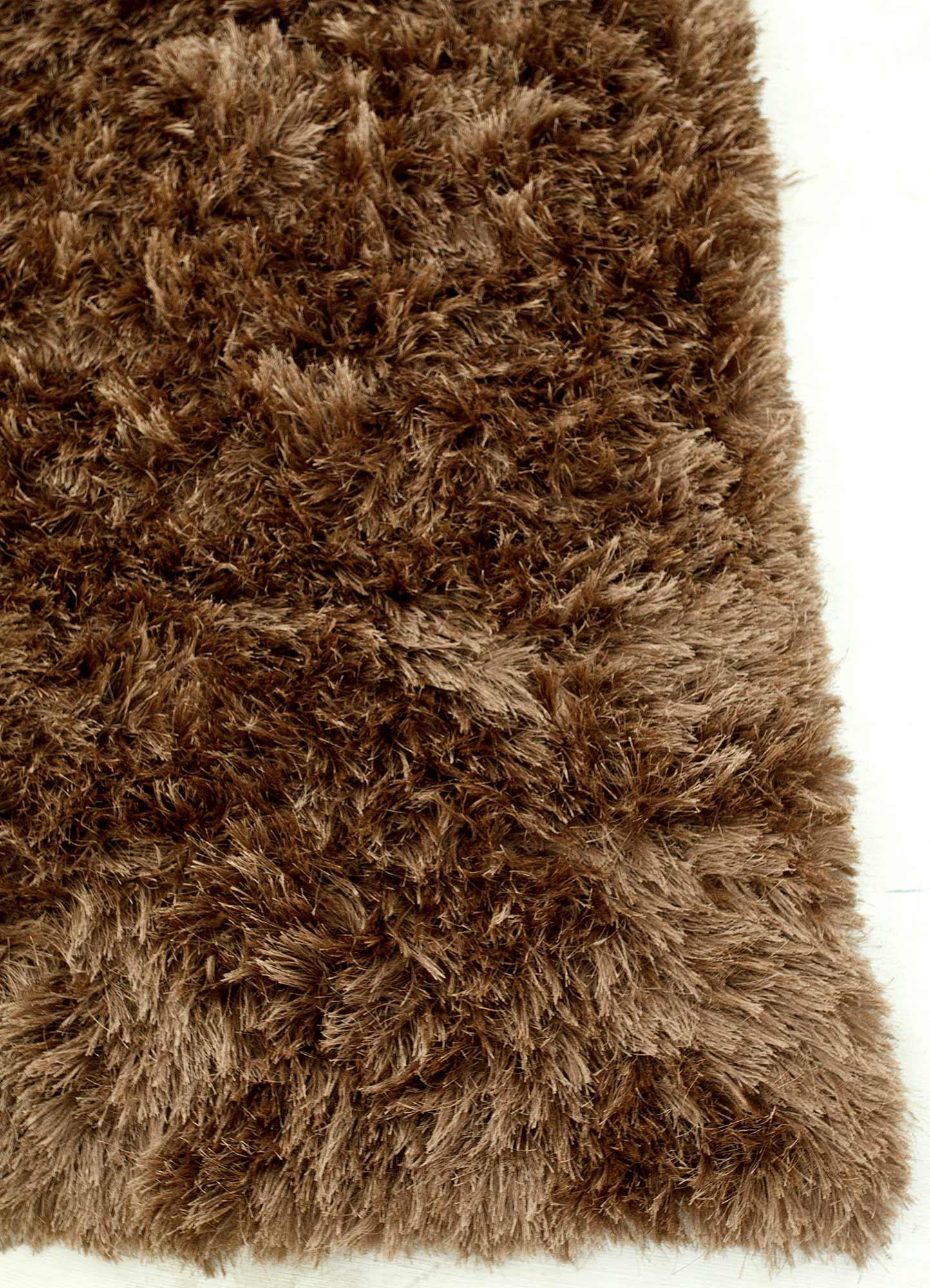 verve beige and brown polyester shag Rug - Corner