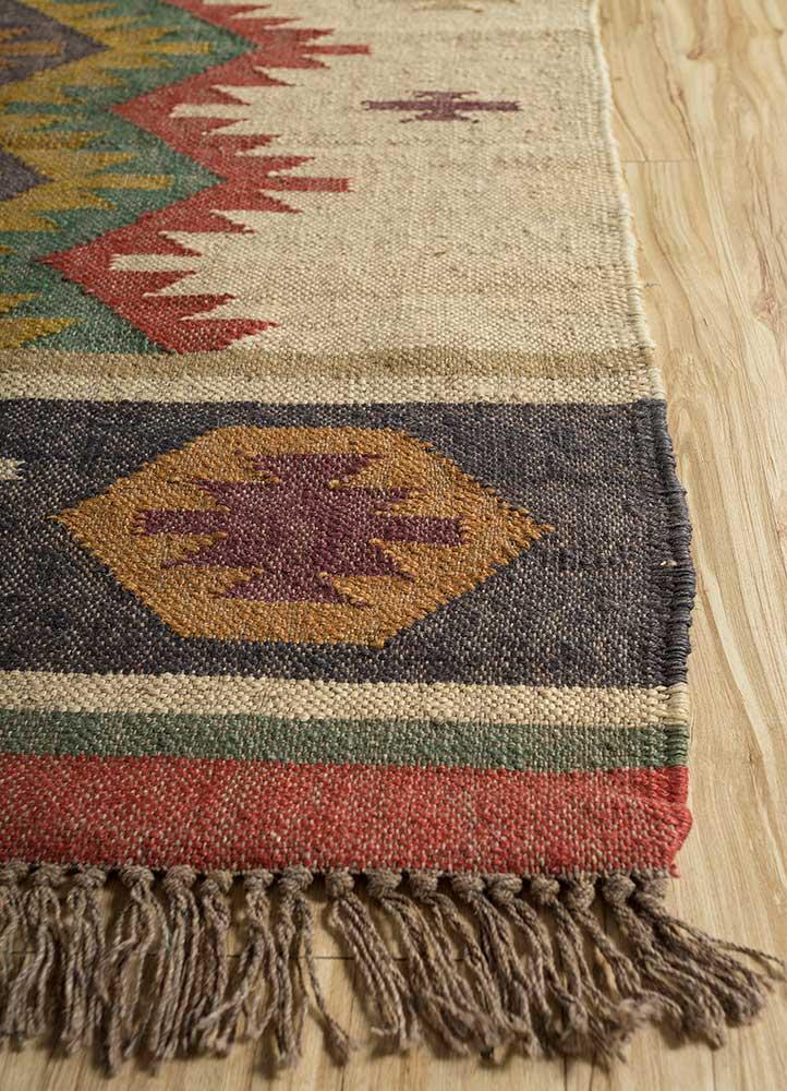 bedouin ivory jute and hemp jute rugs Rug - Corner