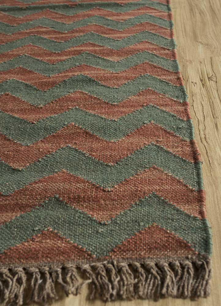 spatial green jute and hemp jute rugs Rug - Corner