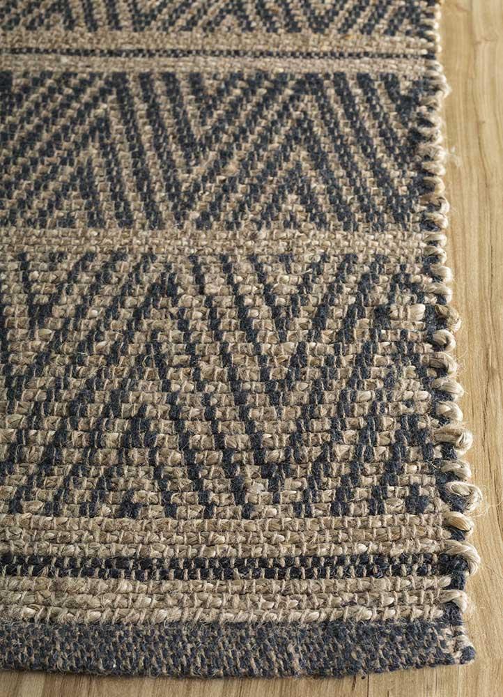 anatolia beige and brown jute and hemp jute rugs Rug - Corner