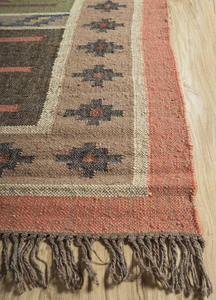 bedouin pink and purple jute and hemp jute rugs Rug - Corner